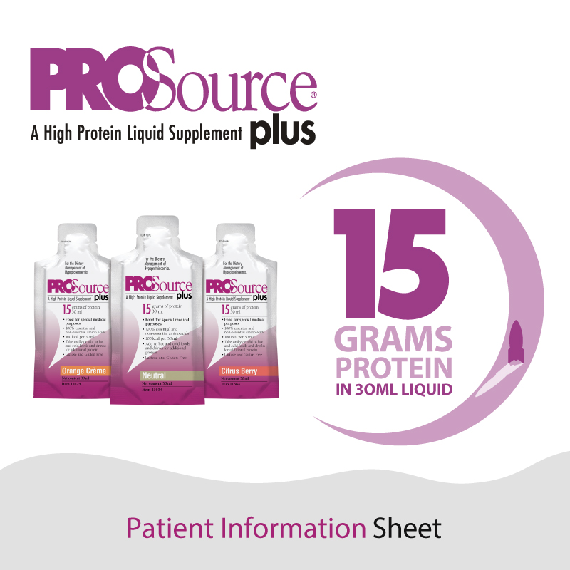 ProSource Plus - Patient Information Sheet