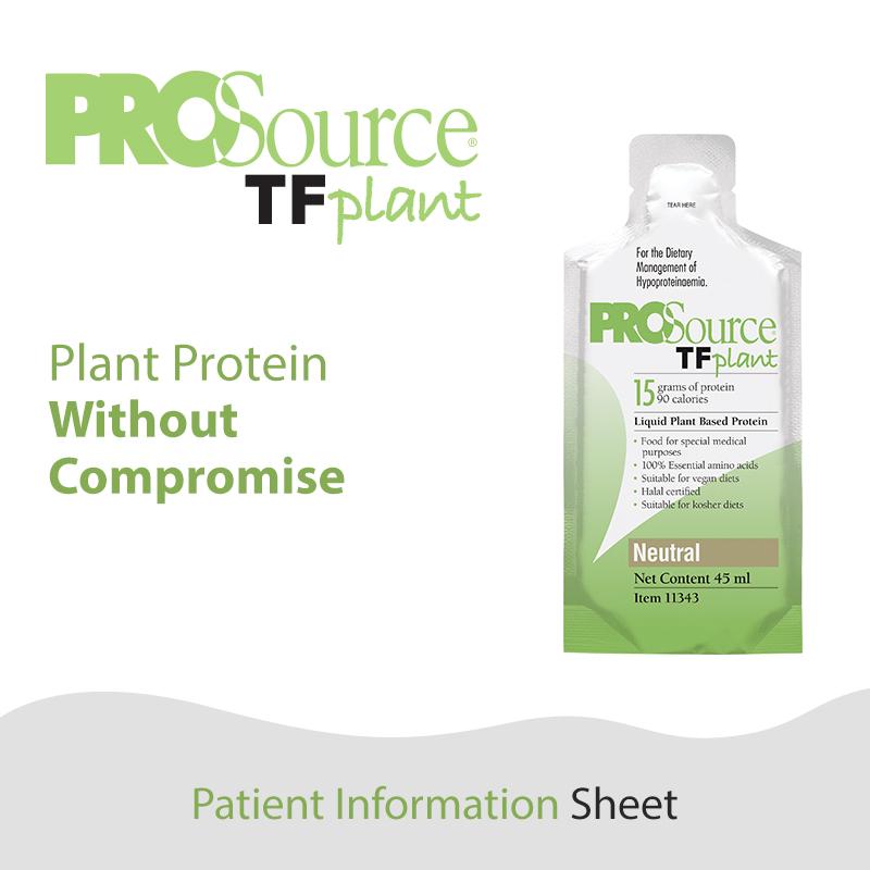 ProSource TF Plant - Patient Information Sheet