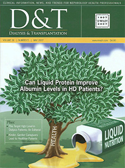 Can Liquid Protein Improve Albumin Levels in HD Patients? – Published Clinical Study from Dialysis & Transplantation Magazine
