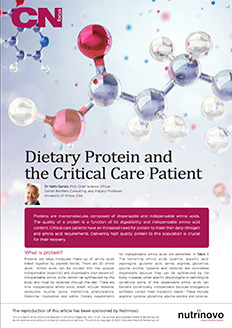 Dietary Protein and the Critical Care Patient