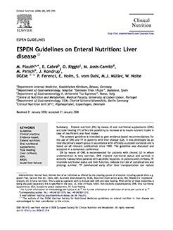 ESPEN Guidelines – Liver