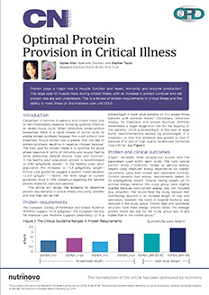 Review Article - Optimal Protein Provision in Critical Illness