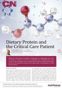 CPD article on Protein in Critical Care