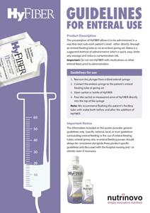 HyFIBER usage guidelines for enteral use